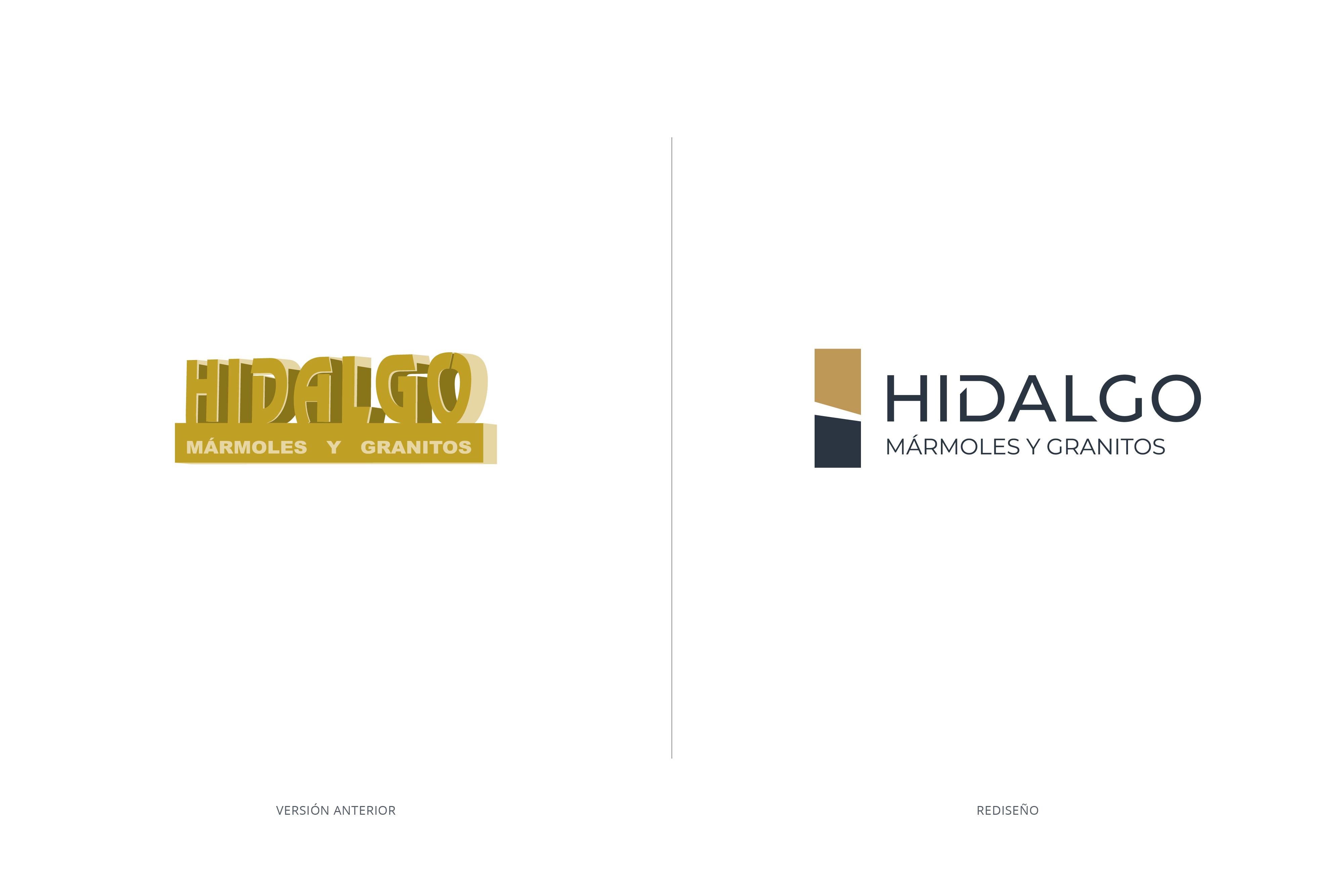 Rediseño de marca Hidalgo mármoles y granitos