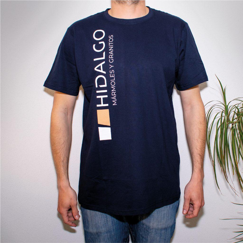 Serigrafía camisetas Hidalgo mármoles y granitos