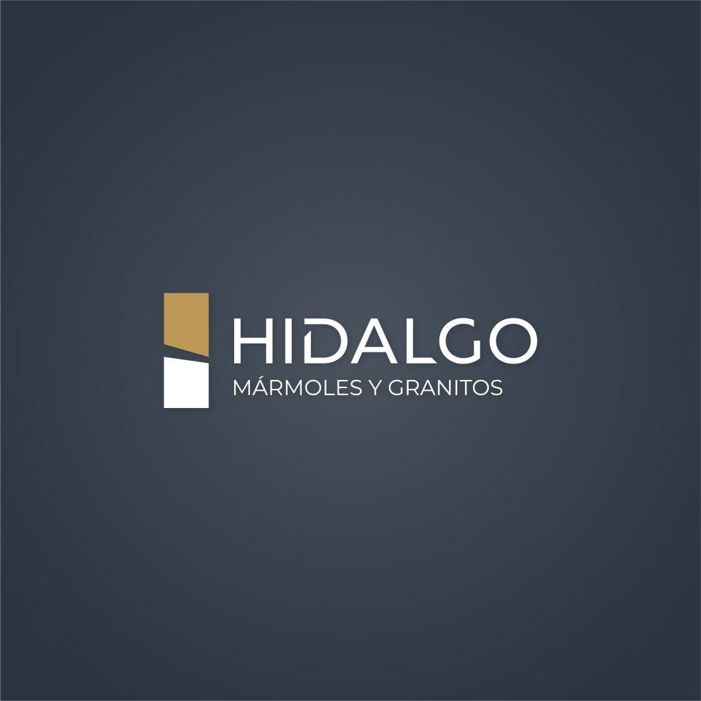Logotipo negativo Hidalgo mármoles y granitos