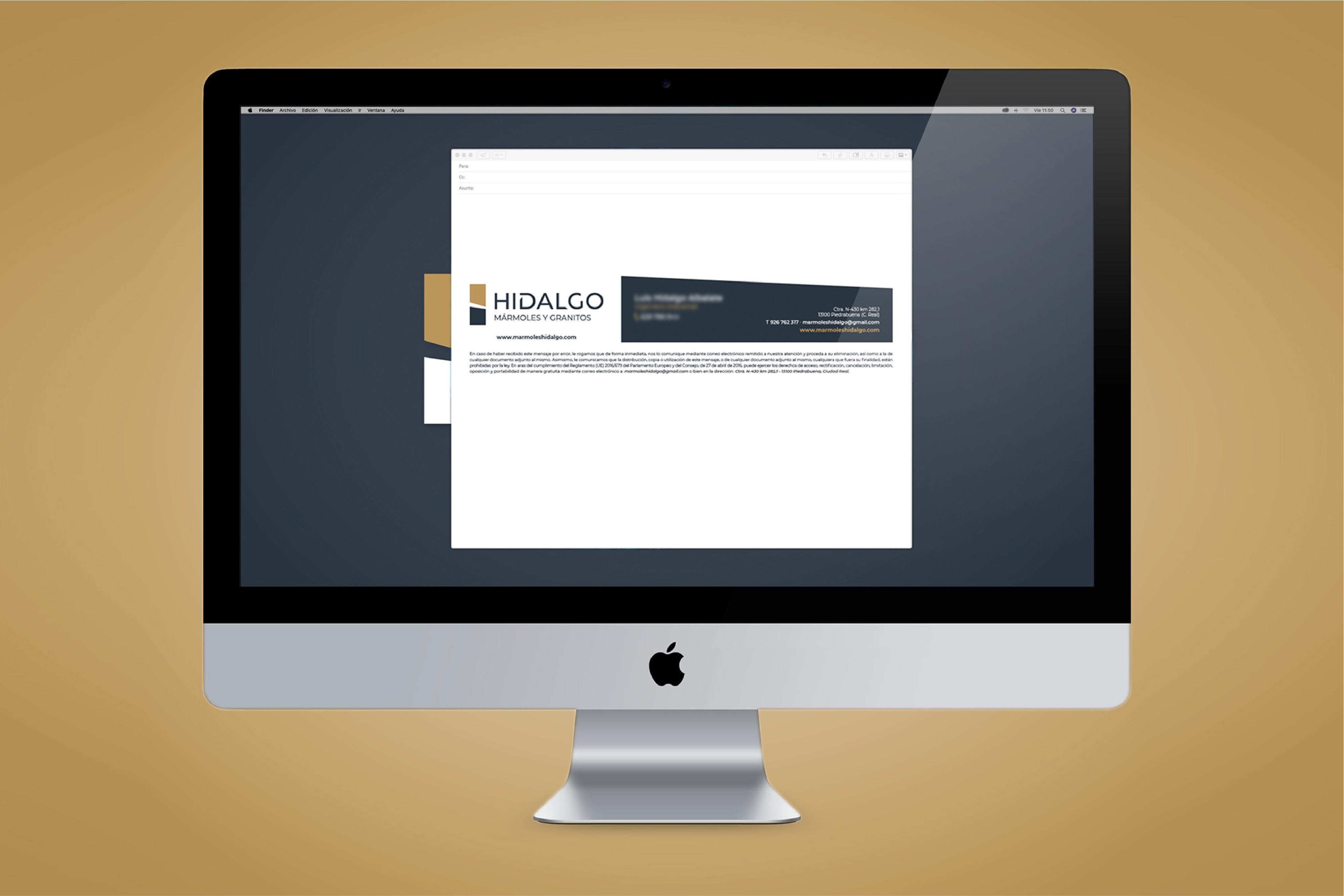 Firma correo electrónico Hidalgo mármoles y granitos