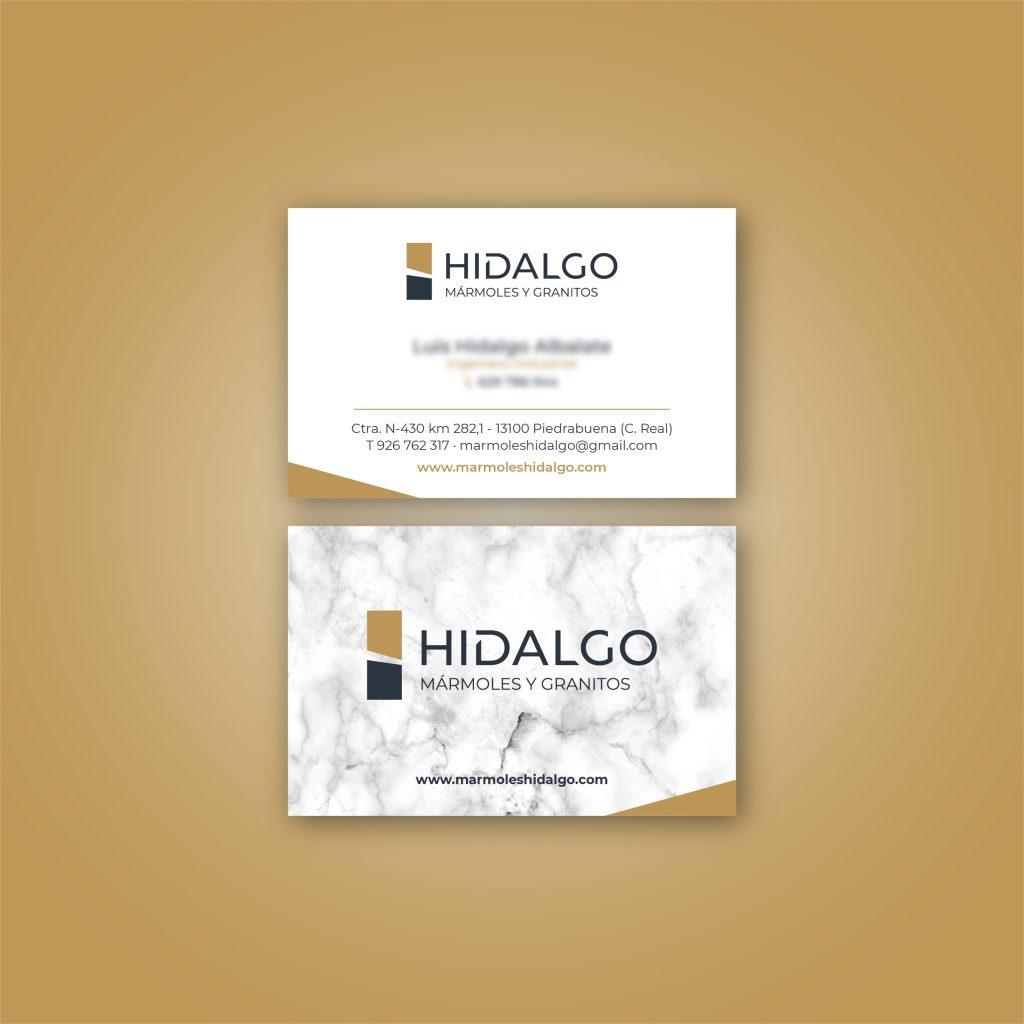 Tarjetas de visita Hidalgo mármoles y granitos