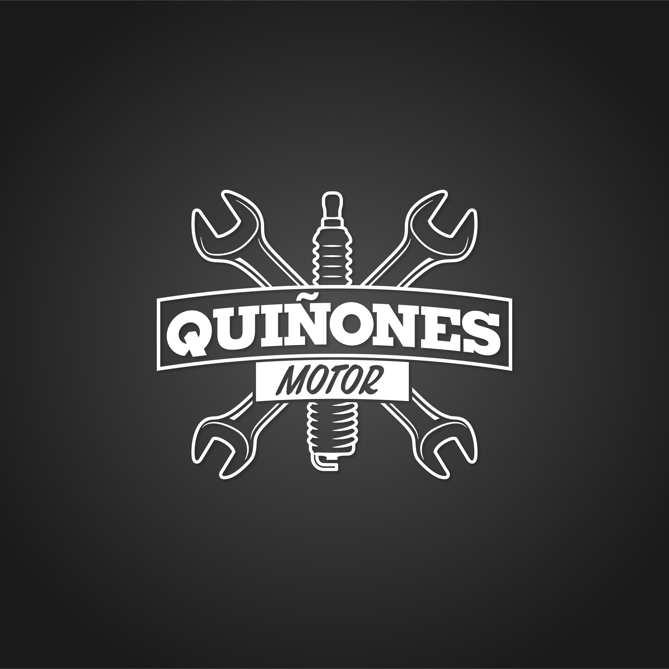 Logotipo negativo Quiñones motor