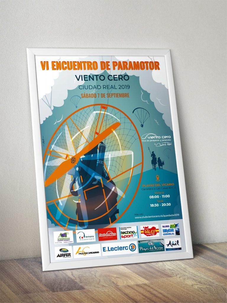 Cartel VI Encuentro Paramotor Viento cero